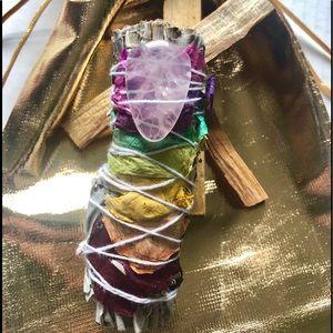 🆕 Rose quartz smudge kit